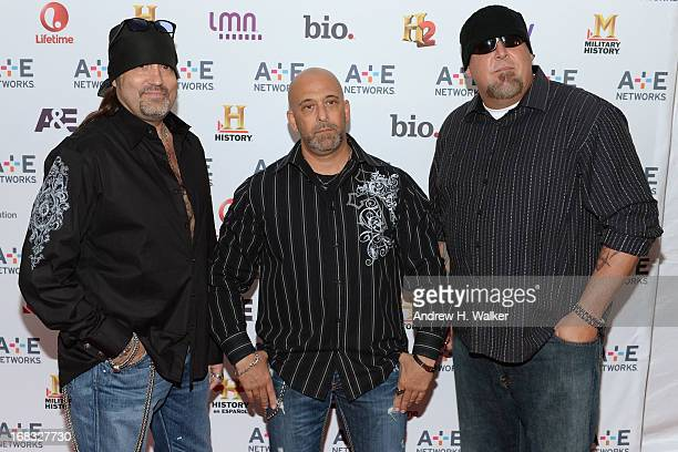 Danny Koker Kevin Mack and Scott Jones of Counting Cars attend the AE Networks 2013 Upfront on May 8 2013 in New York City