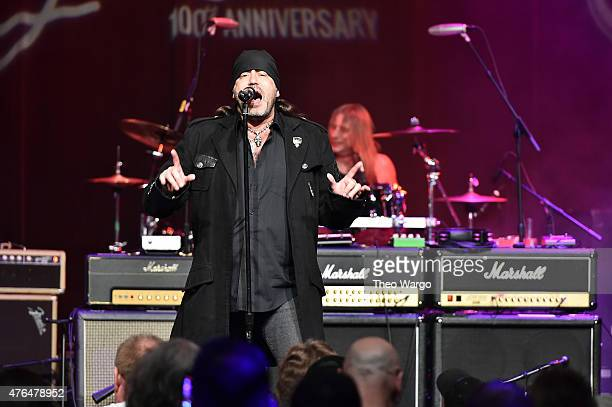 Danny Koker of Count's 77 performs on stage at the Les Paul 100th Anniversary Celebration on June 9 2015 in New York City