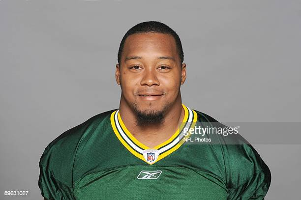 Danny Lansanah of the Green Bay Packers poses for his 2009 NFL headshot at photo day in Green Bay Wisconsin