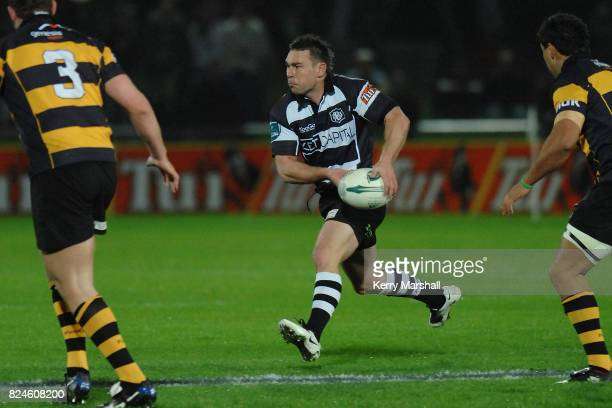 Danny Lee of Hawkes Bay in action in the Air New Zealand Cup match between the Hawkes Bay and Taranaki at McLean Park on September 04 2008 in Napier...