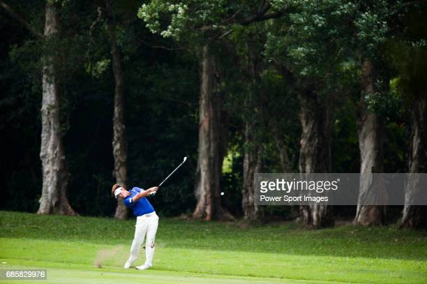 Danny Lee of New Zealand in action during Round 1 of the UBS Hong Kong Golf Open 2011 at Fanling Golf Course in Hong Kong on 1st December 2011