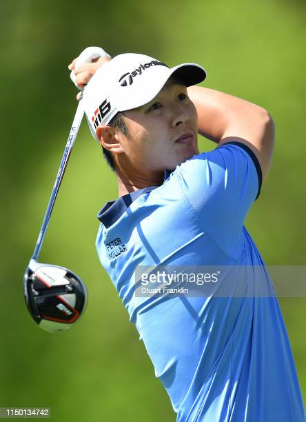 Danny Lee of New Zealand plays a shot from the sixth tee during the third round of the 2019 PGA Championship at the Bethpage Black course on May 18...