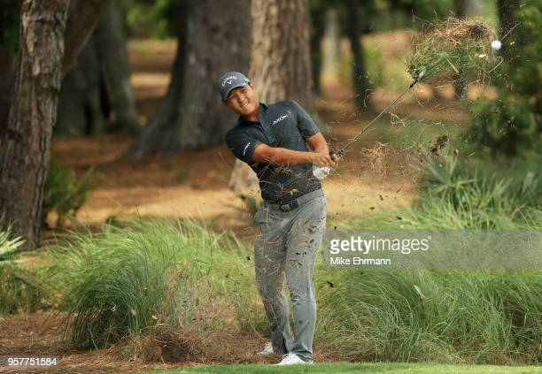 Danny Lee of New Zealand plays a shot on the second hole during the third round of THE PLAYERS Championship on the Stadium Course at TPC Sawgrass on...