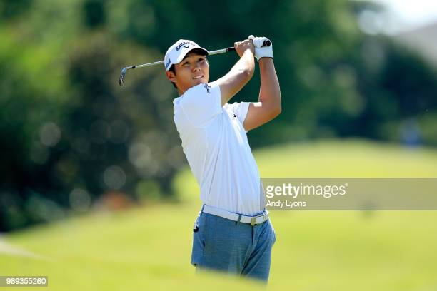 Danny Lee of New Zealand plays his second shot on the tenth hole during the first round of the FedEx St Jude Classic at TPC Southwind on June 7 2018...
