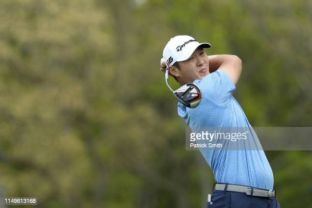 Danny Lee of New Zealand plays his shot from the 12th tee during the first round of the 2019 PGA Championship at the Bethpage Black course on May 16...