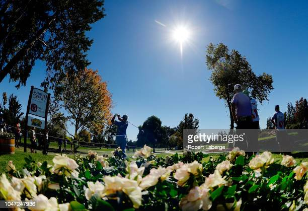 Danny Lee of New Zealand plays his shot from the 13th tee during the final round of the Safeway Open at the North Course of the Silverado Resort and...