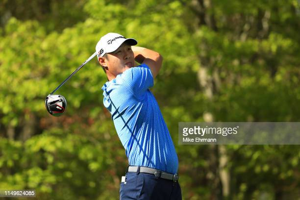 Danny Lee of New Zealand plays his shot from the 16th tee during the first round of the 2019 PGA Championship at the Bethpage Black course on May 16...