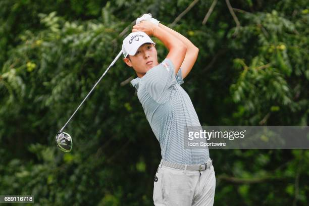 Danny Lee of New Zealand plays his shot from the sixth tee during the third round of the PGA Dean Deluca Invitational on May 27 2017 at Colonial...