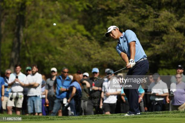 Danny Lee of New Zealand plays his shot on the 13th hole during the first round of the 2019 PGA Championship at the Bethpage Black course on May 16...