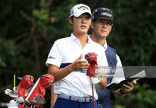 Danny Lee of New Zealand prepares to hit off the third tee during the second round of the Valspar Championship at Innisbrook Resort Copperhead Course...