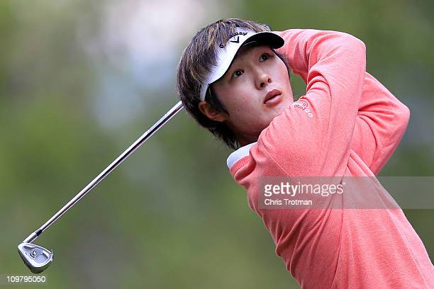 Danny Lee of New Zealand tees off the 7th hole during the second round of the Pacific Rubiales Bogota Open Presented by Samsung at Country Club de...