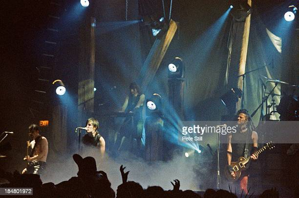 Danny Lohner Trent Reznor and Robin Finck of Nine Inch Nails perform on stage at Brixton Academy on May 25th 1994 in London England