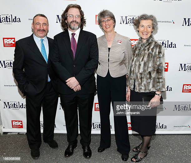 Danny Lopez Gregory Doran Catherine Mallyon and Miranda Curtis attend the Matilda The Musical Broadway Opening Night at Shubert Theatre on April 11...