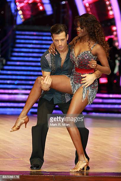 Danny Mac and Oti Mabuse attend the photocall for the 'Strictly Come Dancing' live tour on January 19 2017 in Birmingham England