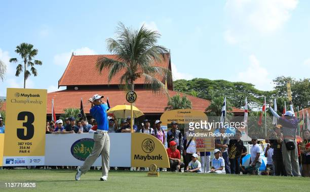 Danny Masrin of Indonesia in action on Day Three of the Maybank Championship at Saujana Golf Country Club Palm Course on March 23 2019 in Kuala...