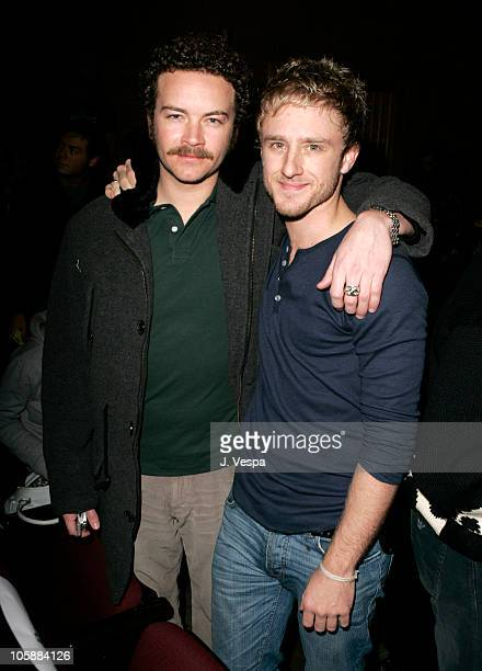 Danny Masterson and Ben Foster during 2006 Sundance Film Festival 'Alpha Dog' Premiere Arrivals at The Eccles in Park City Utah United States