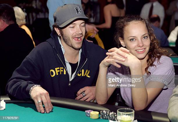 Danny Masterson and Bijou Phillips during Face Of An Angel Foundation Celebrity Poker Tournament April 9 2005 at The Big Easy in Boston Massachusetts...