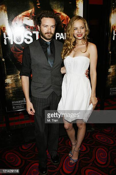 Danny Masterson and Bijou Phillips during 'Hostel Part II' Los Angeles Premiere Arrivals at Mann's Chinese 6 in Hollywood California United States