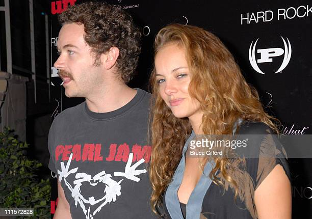 Danny Masterson and Bijou Phillips during Phat Farm Baby Phat and Stuff Magazine Rock 'N Roll into Hard Rock Hotel and Casino for its' Music Issue...