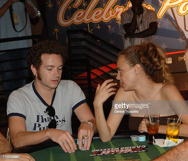 Danny Masterson and Bijou Phillips during Phat Farm Stuff Casino Weekend Poker Tournament at The Palms Hotel and Casino Resort in Las Vegas Nevada...