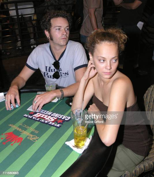 Danny Masterson and Bijou Phillips during Stuff Magazine Phat Farm Poker Tournament at The Palms Hotel and Casino in Las Vegas Nevada United States