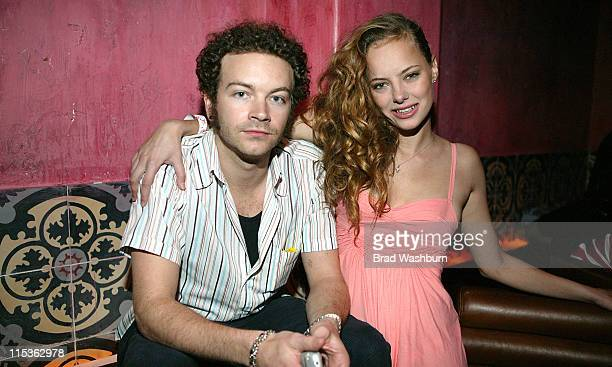 Danny Masterson and Bijou Phillips during The Rock And Republic LA Fashion Week 2005 Party at The Spider Lounge in Hollywood CA United States