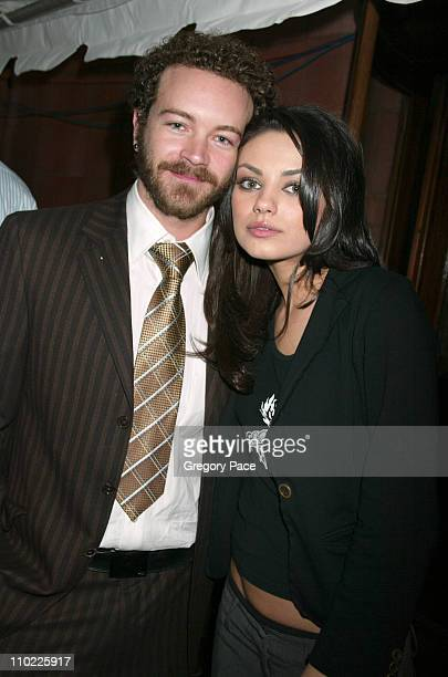 Danny Masterson and Mila Kunis during 2005/2006 FOX Prime Time UpFront Inside Green Room and Party at Seppi's Restaurant and Central Park Boathouse...