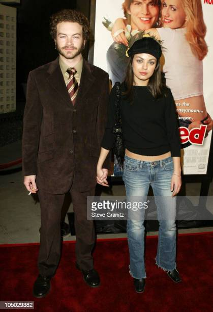 Danny Masterson and Mila Kunis during Just Married Los Angeles Premiere at Pacific Cinerama Dome in Hollywood California United States