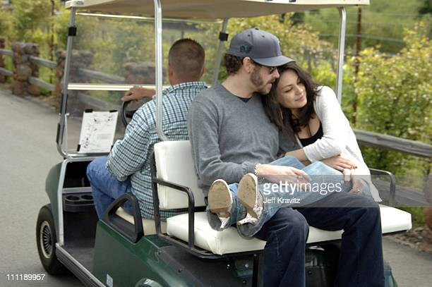 Danny Masterson and Mila Kunis during MTV's 'TRL' at Skywalker Ranch for 'Star Wars III Revenge of the Sith' Screening at Skywalker Ranch in Nicosia...