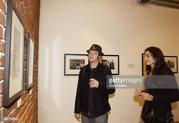 Danny Masterson and Natalie Martinez during Tanqueray No 10 and Christopher Masterson host Art Show Featuring Tiber McCormick Cyril Helnwein at Jason...
