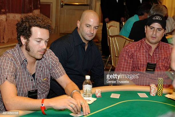 Danny Masterson Bob Mancari and Andrew Sasson during The Light Group Hosts Bob Mancari's All In Weekend Poker Tournement at The Bellagio Hotel and...