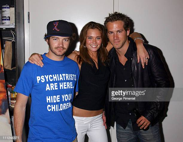 Danny Masterson Bobette Riales and Ryan Reynolds during Maxim Magazine and Coors Light Present Tale Spin at the Much Music Video Awards at This is...