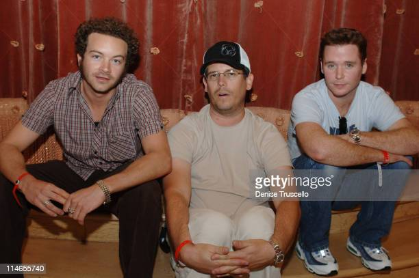 Danny Masterson, Chuck Pacheco and Kevin Connolly during The Light Group Hosts Bob Mancari's All In Weekend Poker Tournement at The Bellagio Hotel...