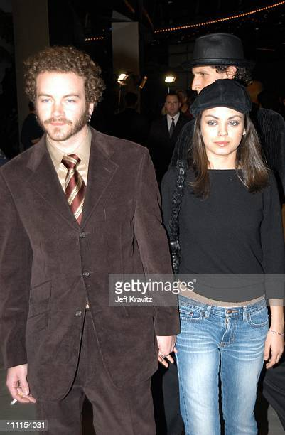 Danny Masterson Mila Kunis during Just Married Premiere at Cinerama Dome in Hollywood CA United States
