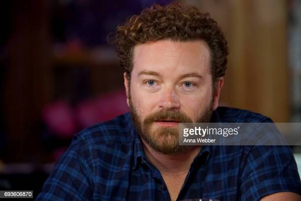 Danny Masterson speaks during a Launch Event for Netflix The Ranch Part 3 hosted by Ashton Kutcher and Danny Masterson at Tequila Cowboy on June 7...