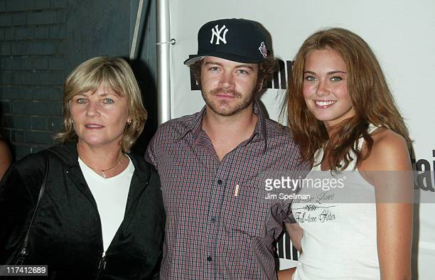Danny Masterson with mother Carol and girlfriend Bobette Riales