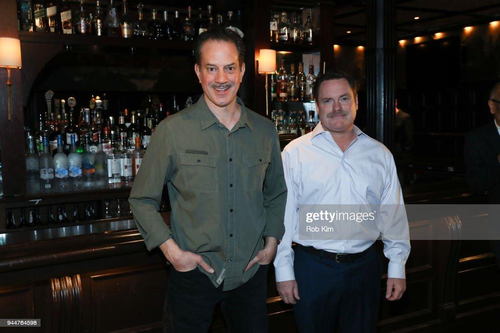 Danny Mastrogiorgio (L) and Danny McCarthy attend 'The Iceman Cometh' Broadway Meet The Press at Delmonico's on April 11, 2018 in New York City.