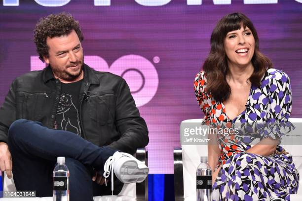 Danny McBride and Edi Patterson of 'The Righteous Gemstones' speak onstage during the HBO Summer TCA Panels on July 24 2019 in Beverly Hills...