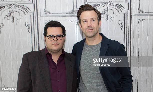Danny McBride and Jason Sudeikis attend The Angry Birds Movie At AOL Build at AOL on May 18 2016 in New York City