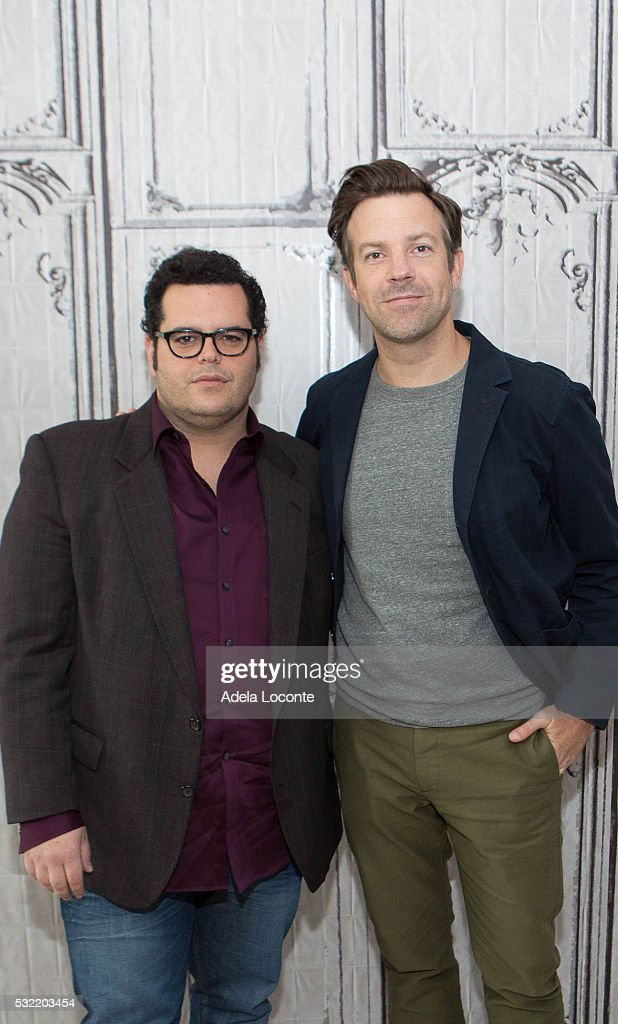 Danny McBride and Jason Sudeikis attend 'The Angry Birds Movie' At AOL Build at AOL on May 18, 2016 in New York City.