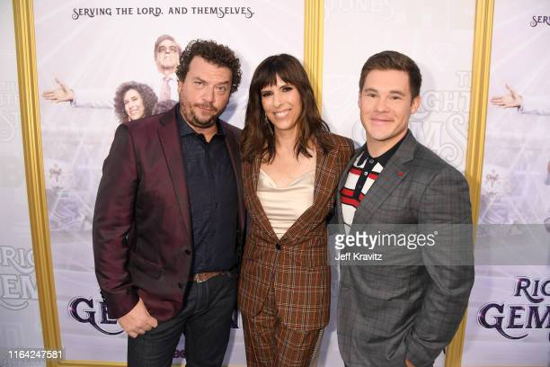 Danny McBride Edi Patterson and Adam DeVine attend HBO's The Righteous Gemstones premiere at the Paramount Theatre on July 25 2019 in Los Angeles...