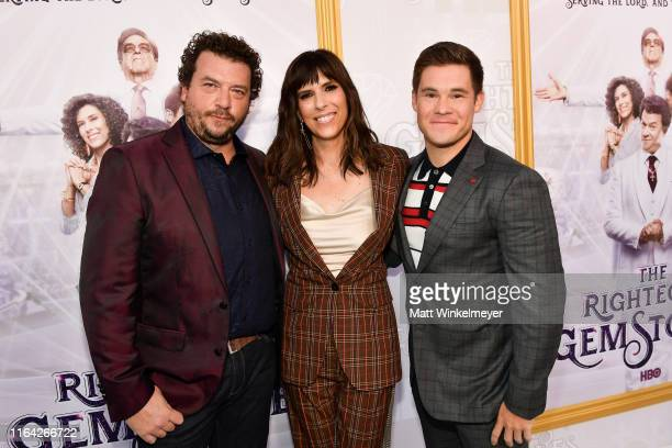 Danny McBride Edi Patterson and Adam DeVine attend the Los Angeles premiere of New HBO Series The Righteous Gemstones at Paramount Studios on July 25...