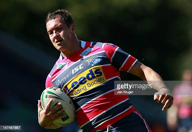 Danny McGuire of Leeds Rhinos during the Stobart Super League match between London Broncos and Leeds Rhinos at Twickenham Stoop on June 30, 2012 in...