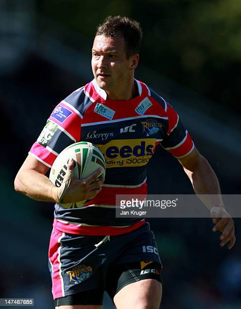 Danny McGuire of Leeds Rhinos in action during the Stobart Super League match between London Broncos and Leeds Rhinos at Twickenham Stoop on June 30,...