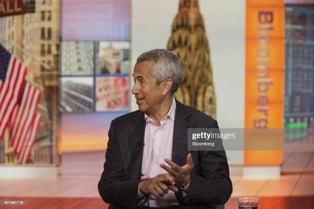 Danny Meyer, founder and chief executive officer of Union Square Hospitality Group LLC, speaks during a Bloomberg Television interview in New York, U.S., on Tuesday, Aug. 15, 2017. Meyer discussed hiring challenges in restaurants and his 'employees first' philosophy. Photographer: Victor J. Blue/Bloomberg via Getty Images