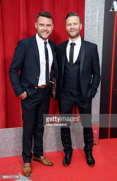 Danny Miller and Daniel Jillings attend the British Soap Awards 2018 at Hackney Empire on June 2 2018 in London England