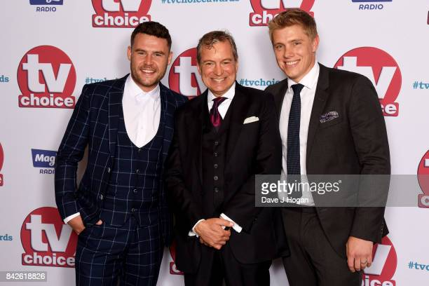Danny Miller John Middleton and Ryan Hawley arrive at the TV Choice Awards at The Dorchester on September 4 2017 in London England
