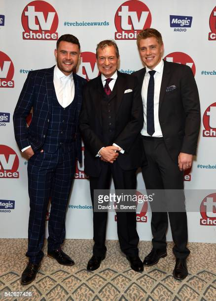 Danny Miller John Middleton and Ryan Hawley attend the TV Choice Awards at The Dorchester on September 4 2017 in London England