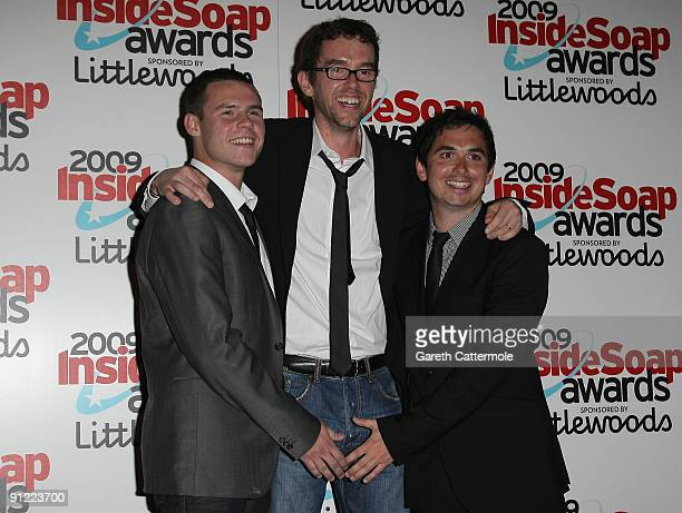Danny Miller Mark Charnock and Alex Carter arrive at The Inside Soap Awards 2009 on September 28 2009 in London England