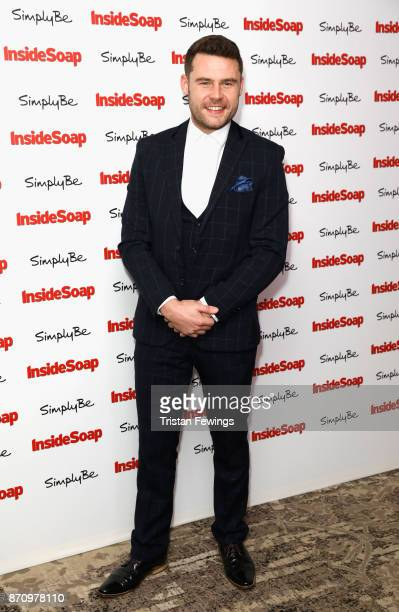 Danny Miller winner of the award for Best Actor attends the Inside Soap Awards held at The Hippodrome on November 6 2017 in London England